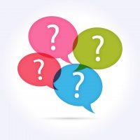 Icônes bulles FAQ